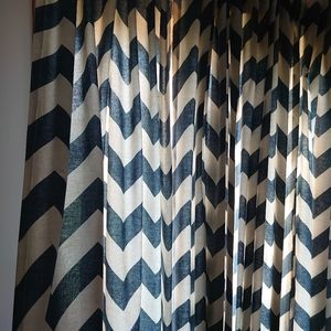 West Elm Accents - West Elm Chevron Curtains 84in x 48in